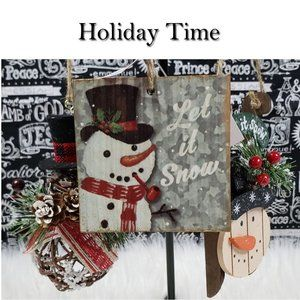 Holiday Time Snowmen Ornament Set Of 3 NWT